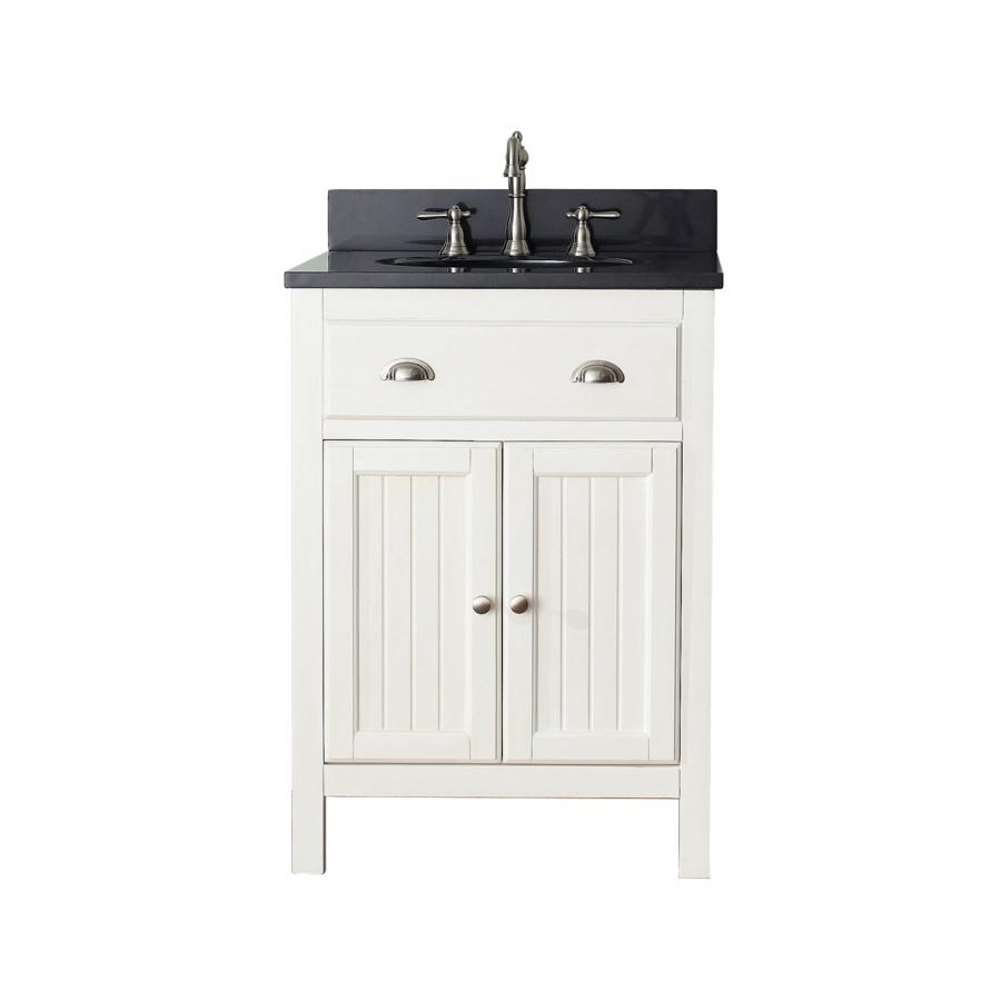 24 inch single sink bathroom vanity in french white uvachamiltonv24fw24 - Kitchen sink in french ...