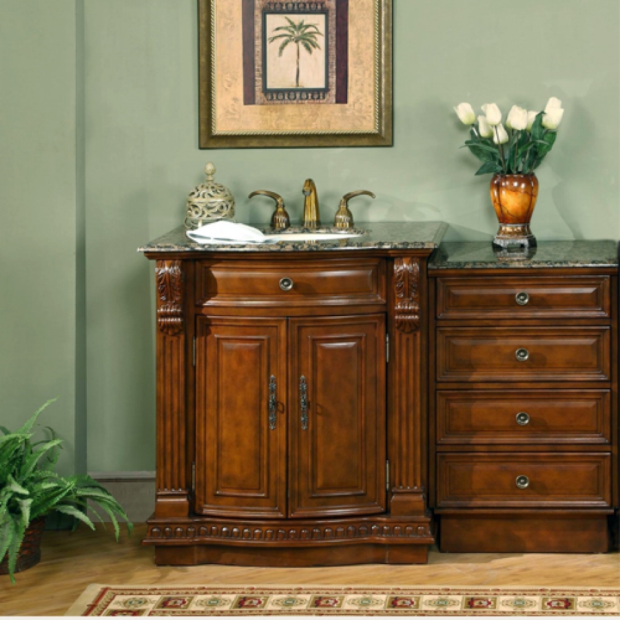 53 Inch Single Sink Bathroom Vanity With Extra Storage And