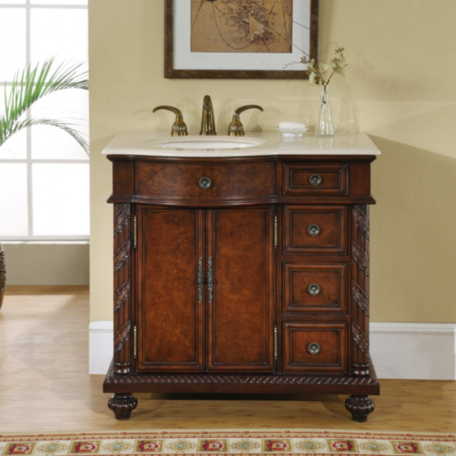 Bath Vanities With Tops : Inch single sink bathroom vanity with choice of top