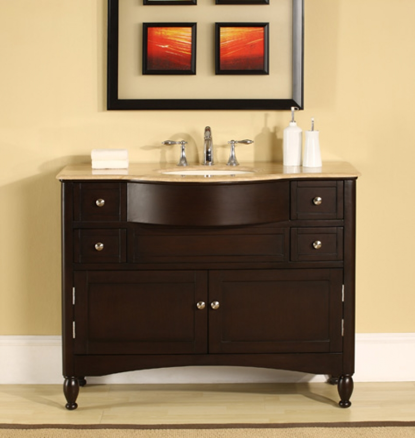 45 Inch Elegant Single Sink Vanity With Choice Of Counter
