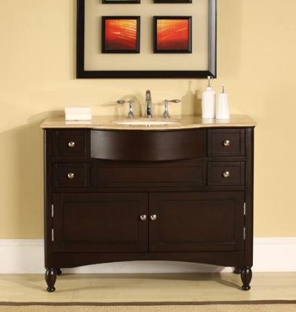 45 inch elegant single sink vanity with choice of counter top uvsr071745. Black Bedroom Furniture Sets. Home Design Ideas