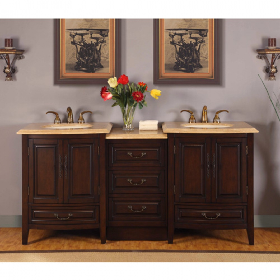 73 5 Inch Double Sink Vanity With Under Counter Led