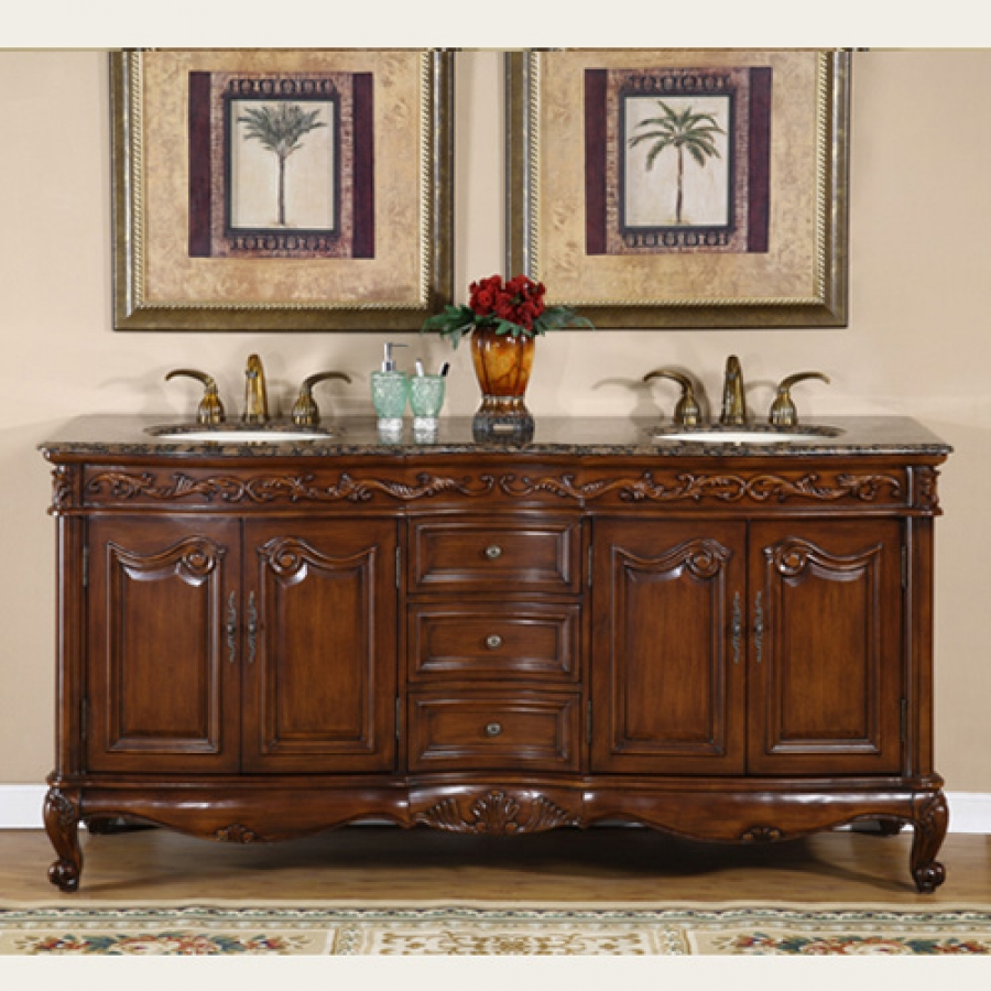72 inch double sink bathroom vanity with counter choice uvsr803472 - Double Sink Bathroom Vanities