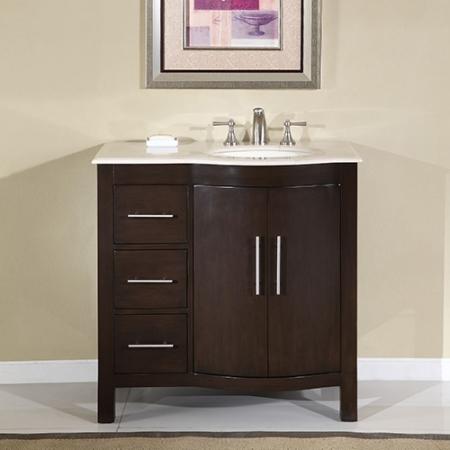36 Inch Modern Single Sink Bathroom Vanity With Cream