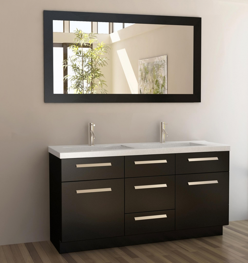 home u003e 60 inch double sink bathroom vanity with quartz top loading zoom