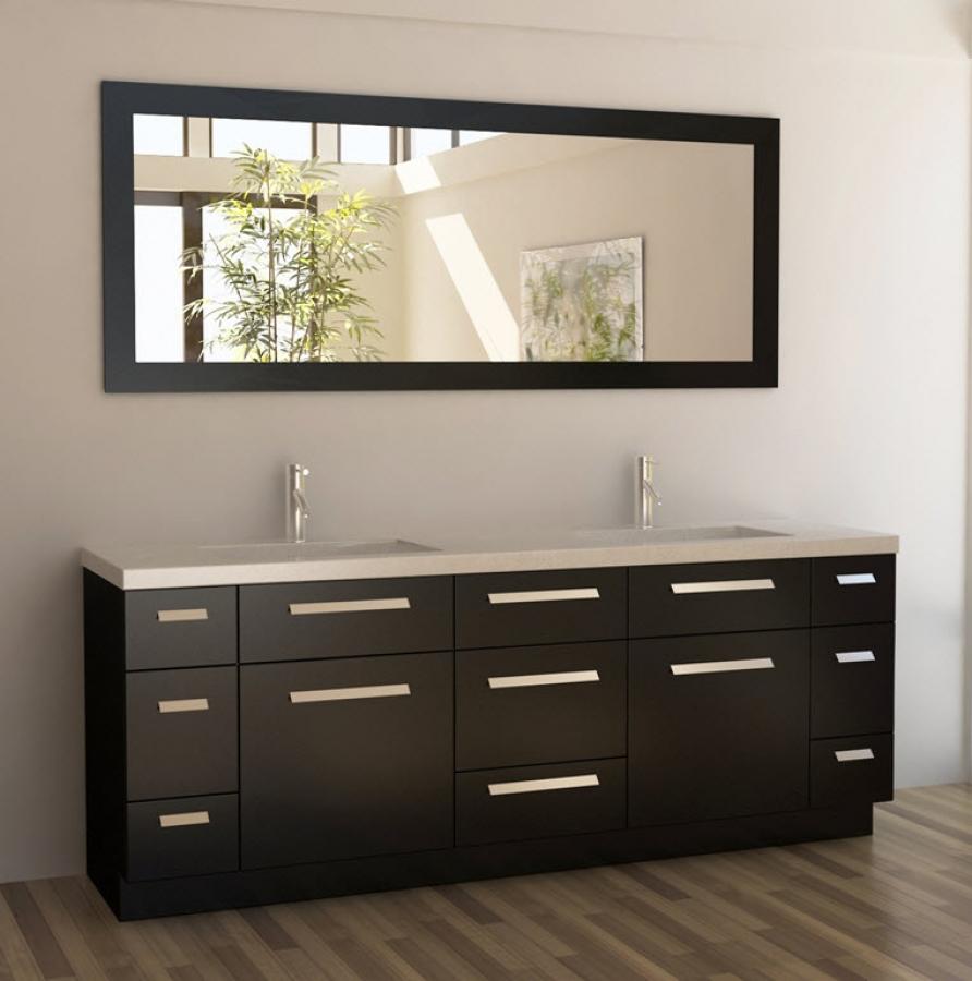 84 inch double bath vanity in espresso uvdej84ds84 for 84 inch white bathroom vanity