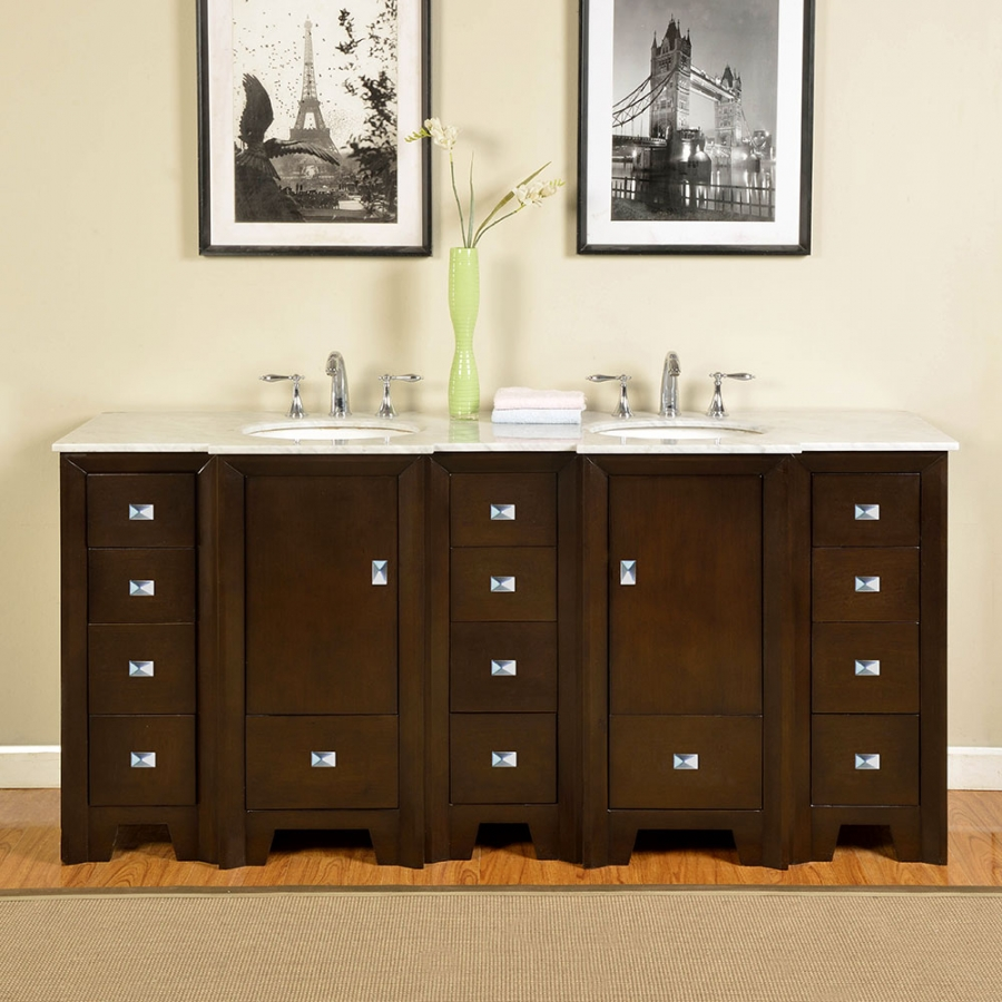73 inch double sink bathroom vanity with carerra white marble uvsr0271wm73