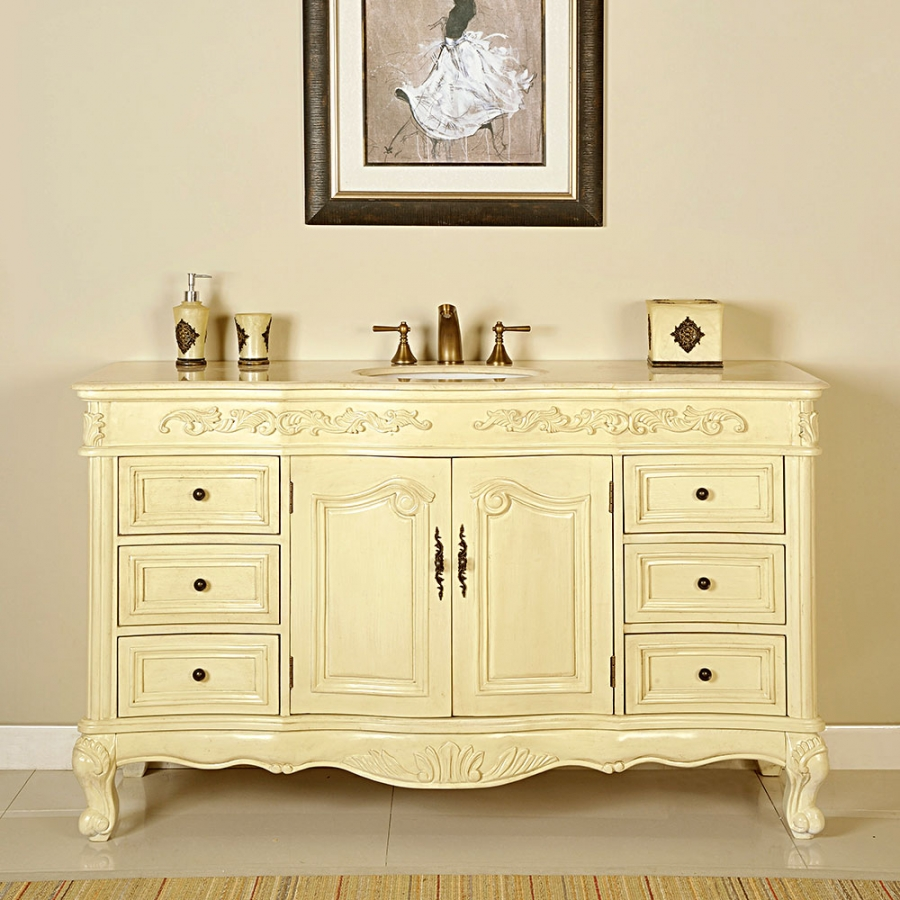 60 inch bathroom vanity single sink white 60 inch single sink bathroom vanity in white oak uvsr0273cm60 25904