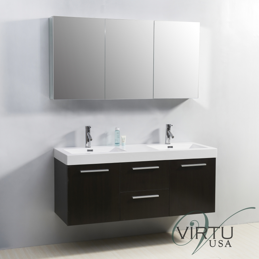 inch double sink bathroom vanity with faucets included: 55 inch double sink bathroom vanity