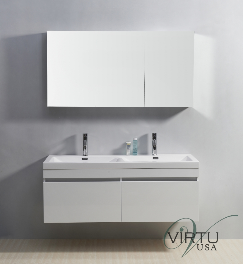 inch double sink bathroom vanity with soft closing drawers: 55 inch double sink bathroom vanity