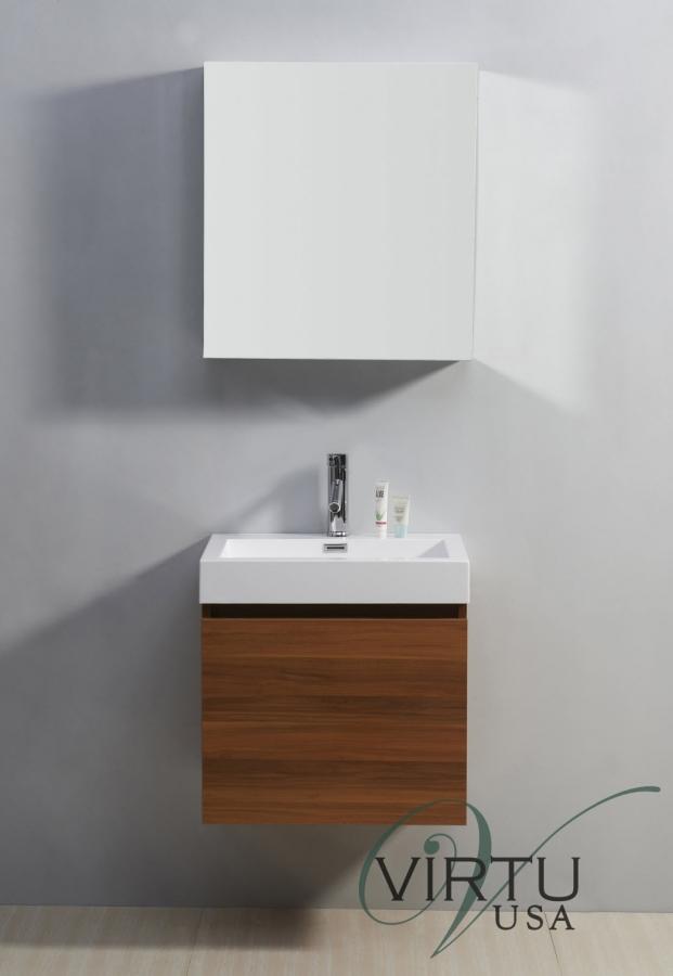 24 Inch Single Sink Bathroom Vanity With A Hidden Drawer Uvvu50324pl22