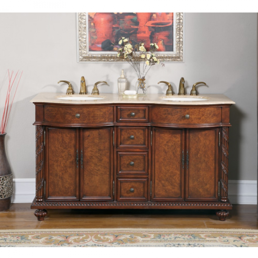 90 Inch Double Bathroom Vanity shop silkroad exclusive bathroom vanities with free shipping!