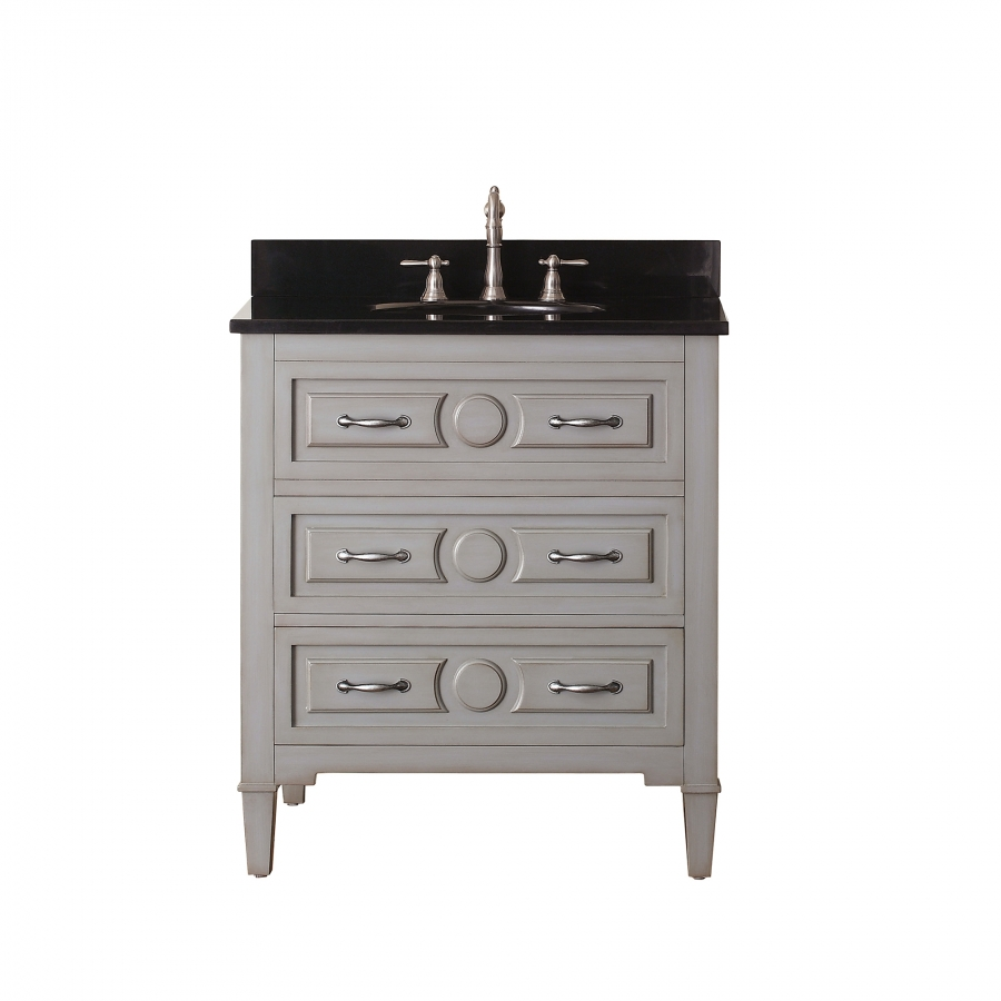 30 Inch Single Sink Bathroom Vanity In Grayish Blue Uvackellyv30gb30