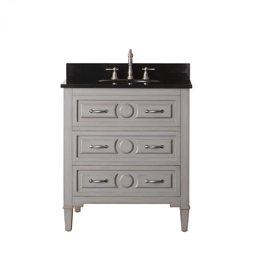 30 inch single sink bathroom vanity in grayish blue uvackellyv30gb30. Black Bedroom Furniture Sets. Home Design Ideas