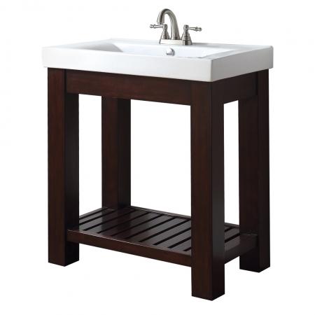 31 Inch Single Bathroom Vanity With Open Shelf