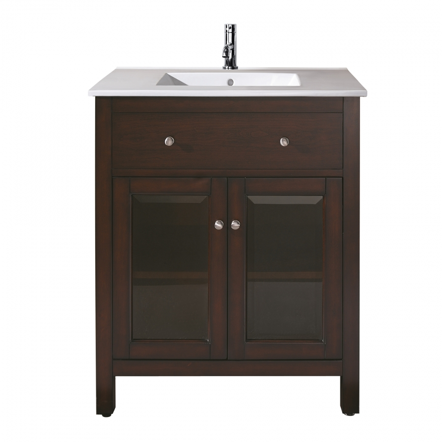 24 inch single sink bathroom vanity with choice of top for Bathroom 24 inch vanity