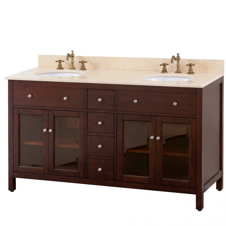 60 inch bathroom vanity with choice of top