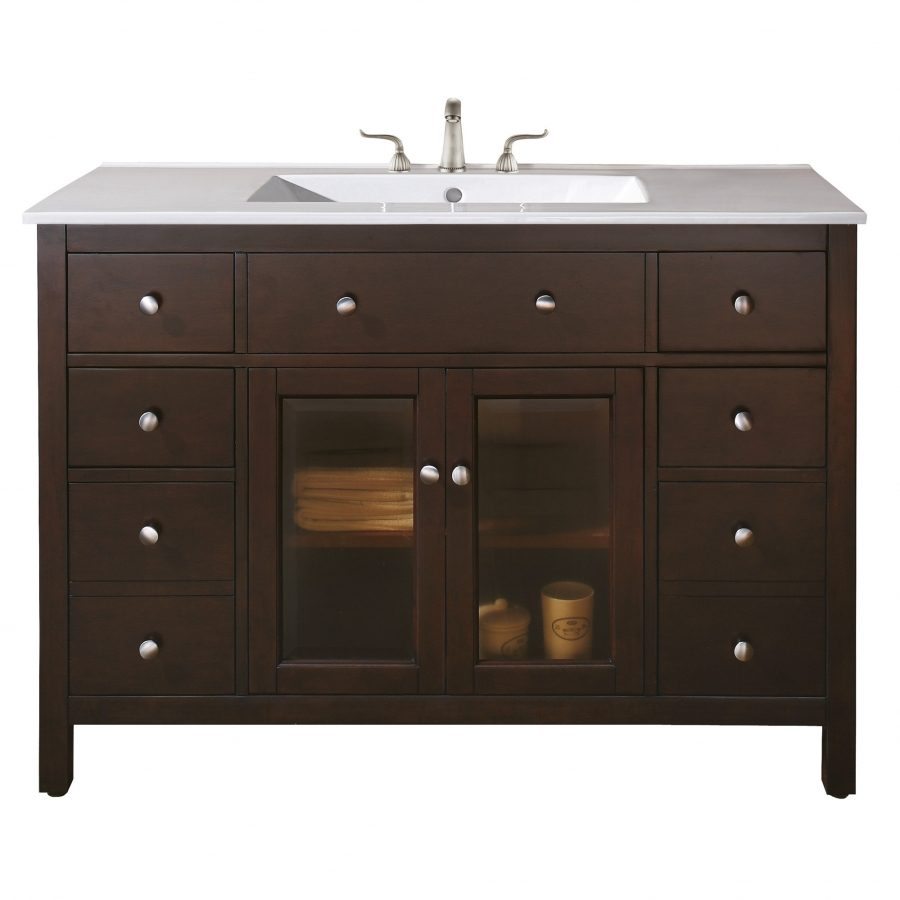 48 inch single sink bathroom vanity with choice of top for Bathroom 48 inch vanity
