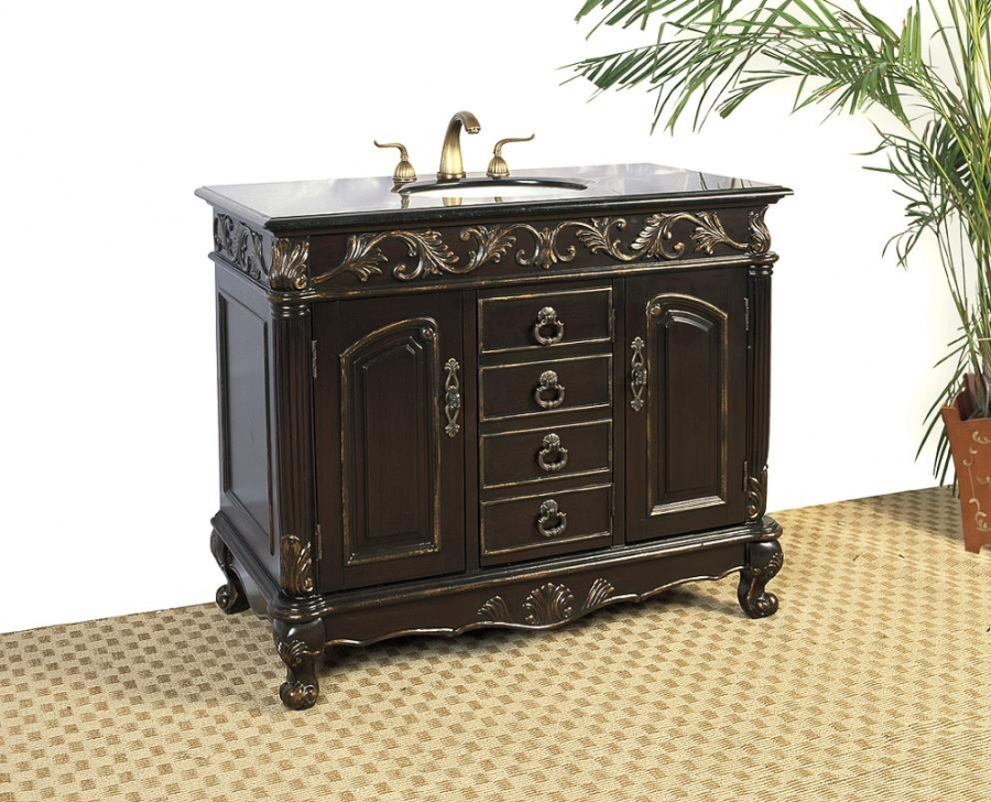 distressed bathroom cabinets 41 inch single sink bathroom vanity with distressed 14843