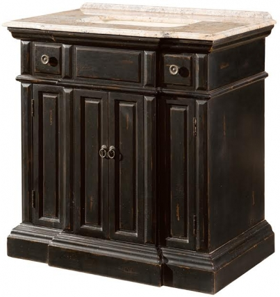 36 Inch Single Sink Bathroom Vanity With A Distressed Black Finish Uvlklk2736