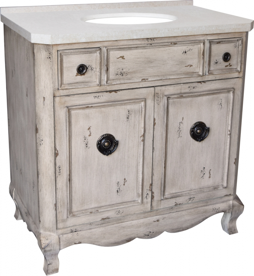 36 inch single sink bathroom vanity in aged pine uvlklk3136