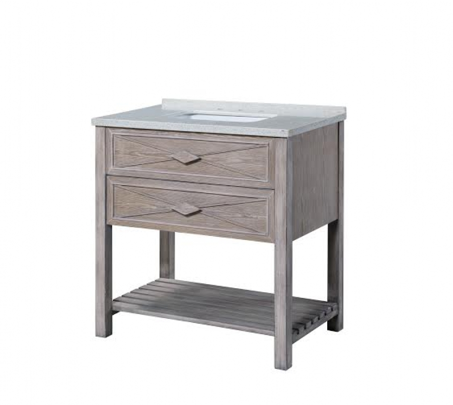36 Inch Single Sink Bathroom Vanity With A Washed Oak Finish Uvlklk3436