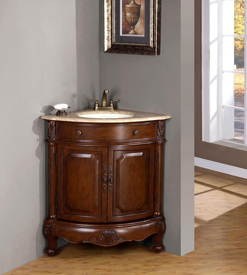 32 Inch Traditional Single Bathroom Vanity with a ...