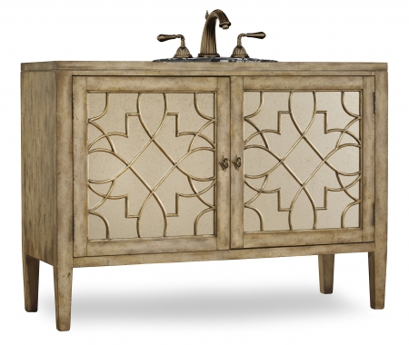 52 inch single sink bathroom vanity in antiqued parchment - 52 inch bathroom vanity double sink ...