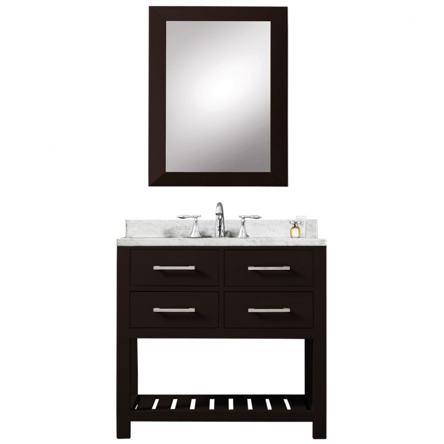 inch single sink bathroom vanity in espresso with soft closing drawers