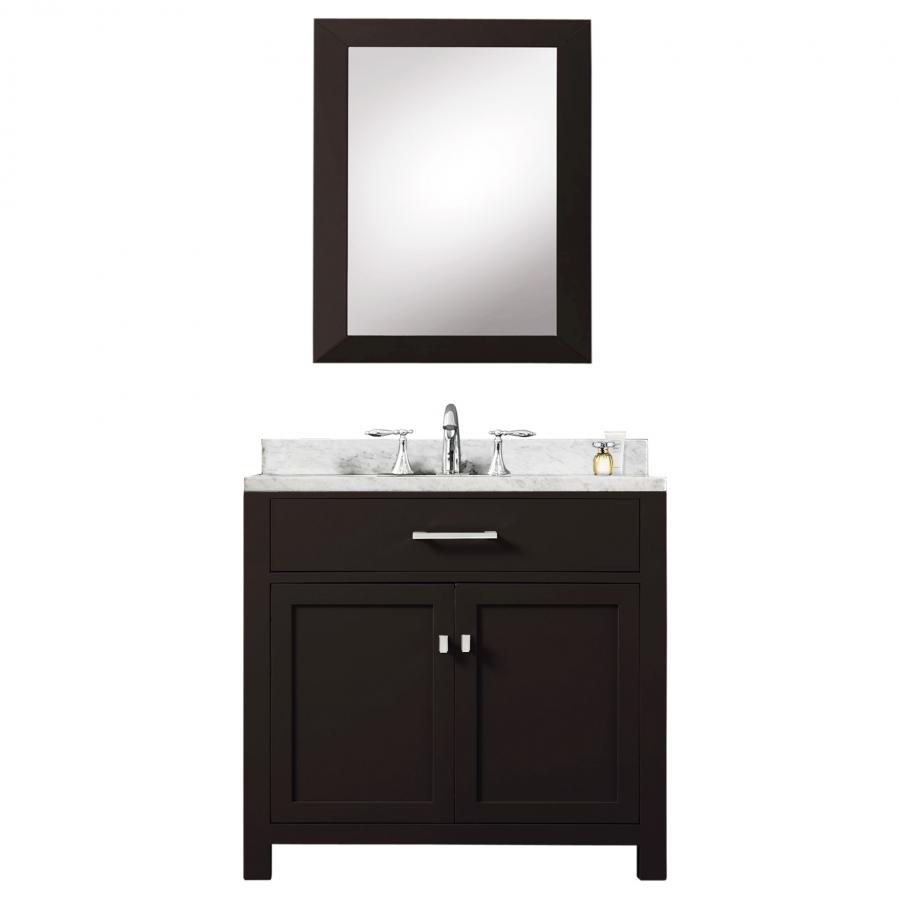 30 inch single sink bathroom vanity in espresso uvwcmadison30e for Bathroom cabinets 30 inch