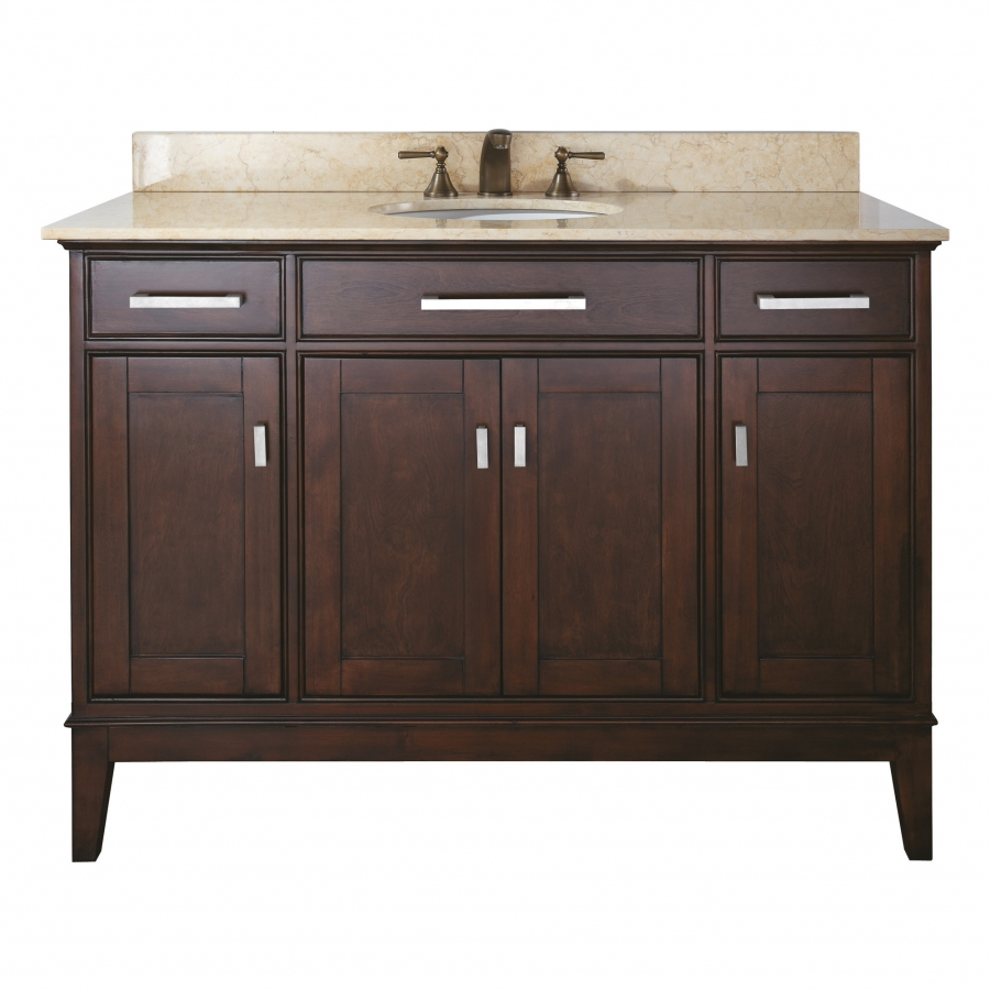 48 inch single sink bathroom vanity in light espresso finish with choice of countertop. Black Bedroom Furniture Sets. Home Design Ideas