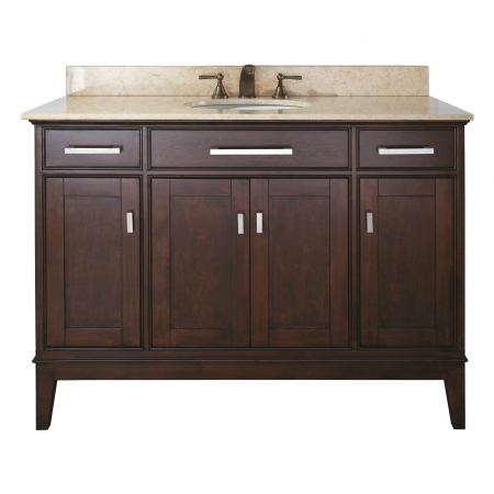 48 Inch Single Sink Bathroom Vanity In Light Espresso