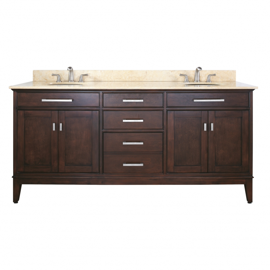 72 Inch Double Sink Bathroom Vanity With Choice Of Countertop Uvacmadisonv72le