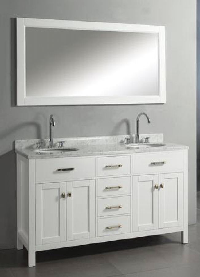 60 Vanity Top Double Sink 60 Inch Double Sink Vanity With White Finish And Italian