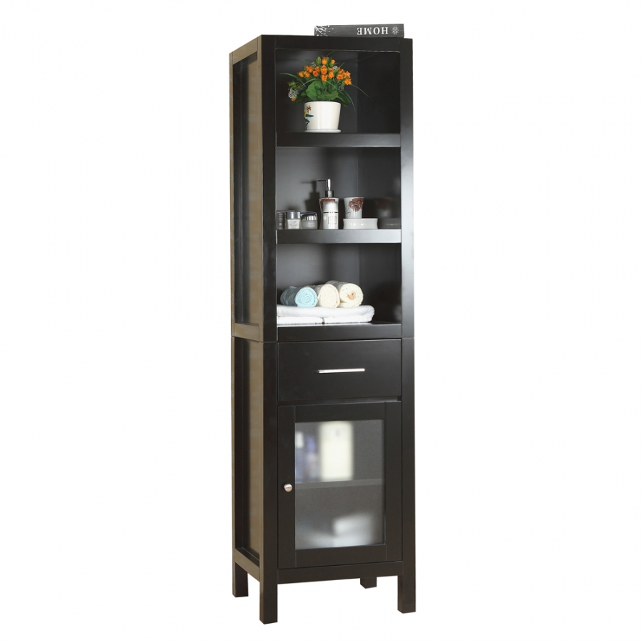 Espresso Bathroom Linen Cabinet With Tons Of Storage Uvvumdc5220