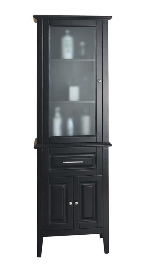 ... Linen Cabinet With A Glass Door · Loading Zoom