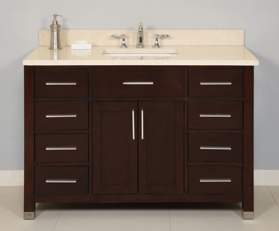 48 inch single sink modern dark cherry bathroom vanity for 48 inch mirrored bathroom vanity
