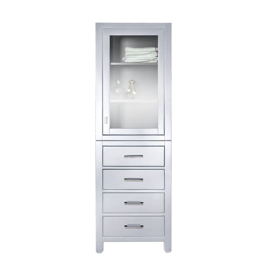 24 Inch Linen Cabinet In White Uvacmoderolt24wt