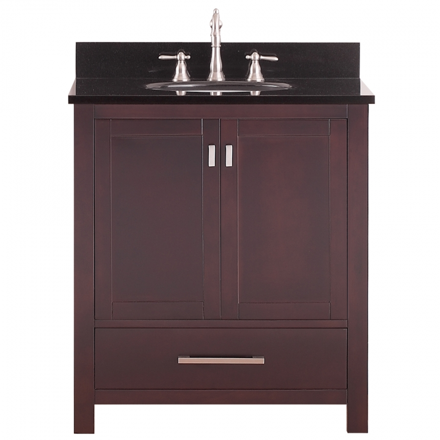 30 inch single sink bathroom vanity in espresso for Bathroom 30 inch vanity