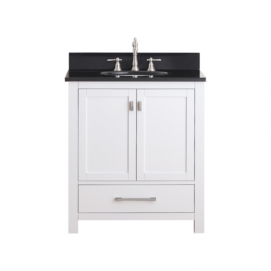 30 inch single sink bathroom vanity with soft close hinges for Bathroom 30 inch vanity