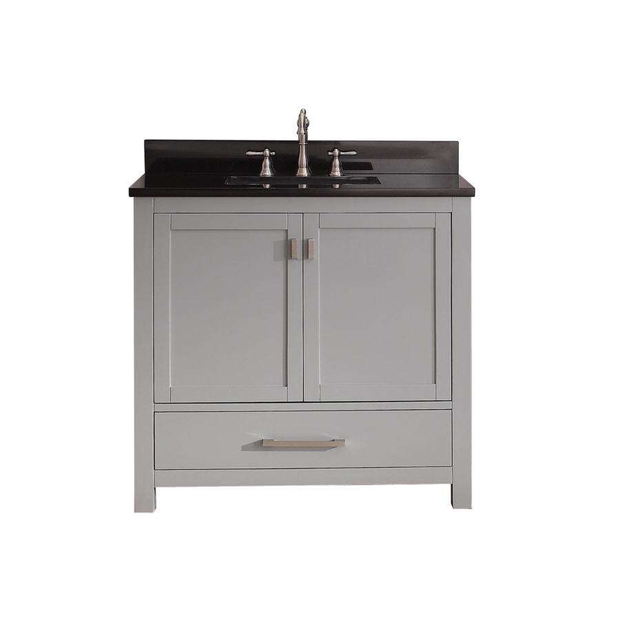 36 inch single sink bathroom vanity in chilled gray for Bathroom 36 vanities