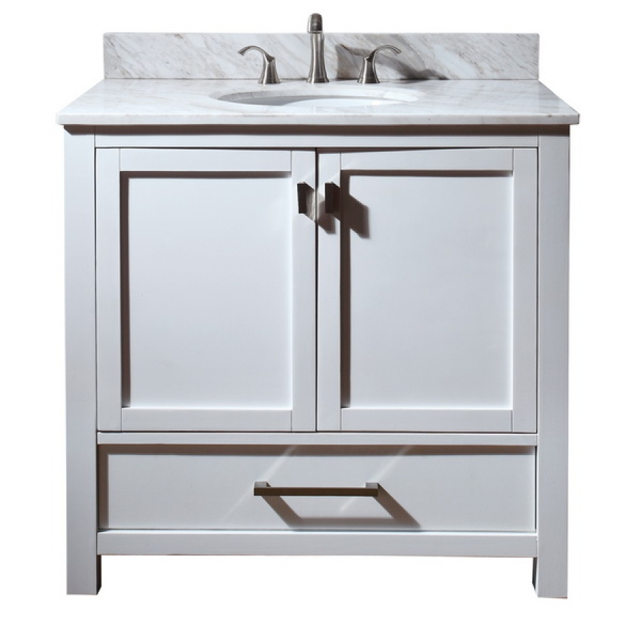 36 inch single sink bathroom vanity with choice of top for Bathroom cabinets 36