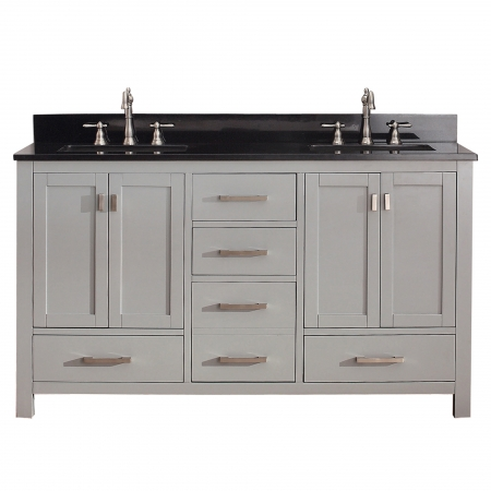 60 Inch Double Sink Bathroom Vanity In Chilled Gray UVACMODEROV60CG60
