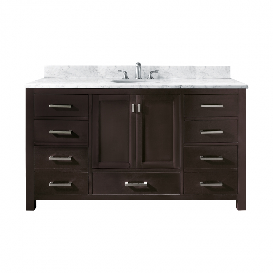 60 inch single sink bathroom vanity with choice of top uvacmoderov60esa60 60 in bathroom vanities with single sink