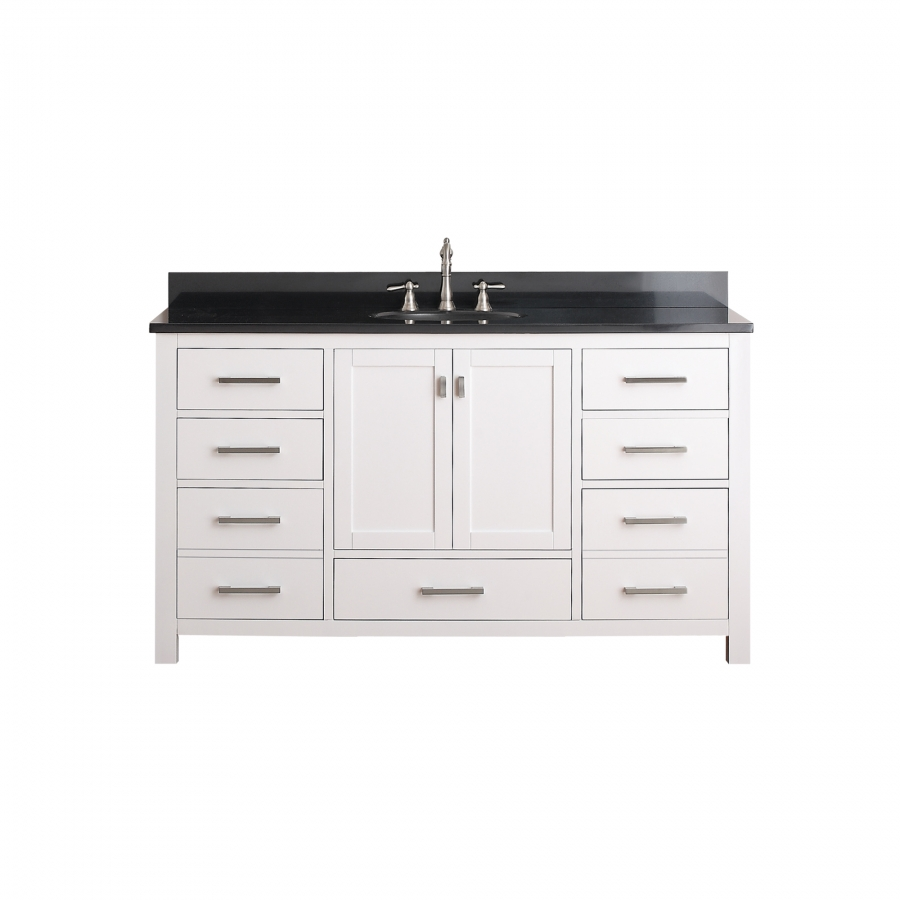 bathroom vanity 60 inch single sink 60 inch single sink bathroom vanity with choice of top 24990 | MODERO VS60 WT A size0