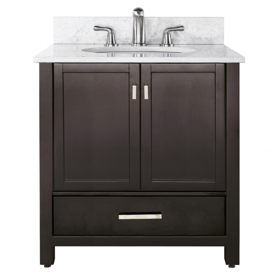 36 inch single sink bathroom vanity with choice of countertop uvacmoderov36es