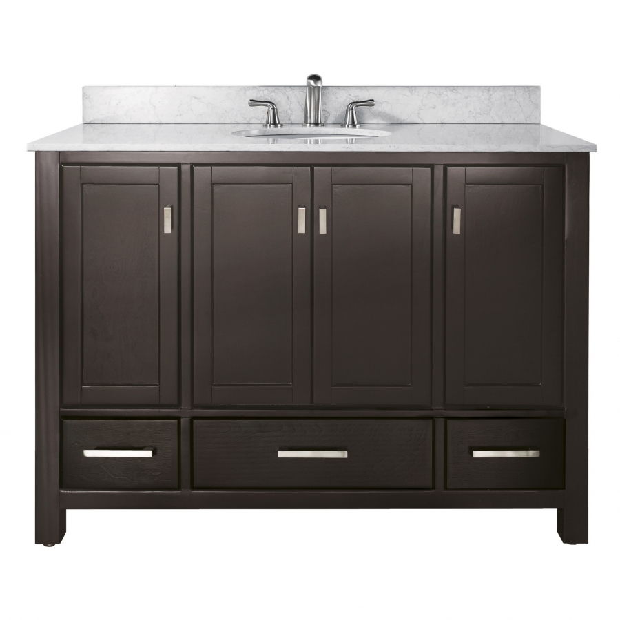 48 inch single sink bathroom vanity in espresso with for Bathroom 48 inch vanity
