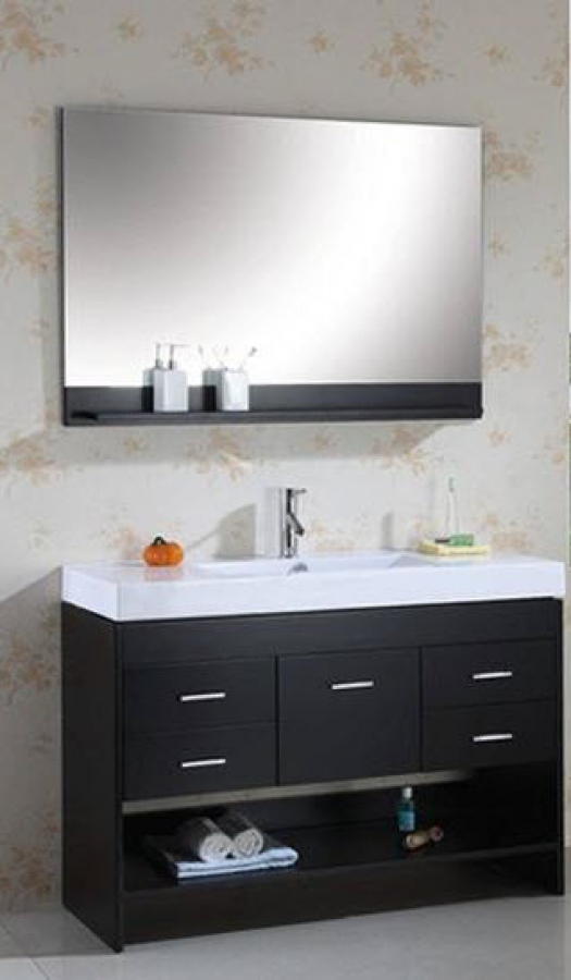 48 Inch Single Sink Vanity With Espresso Finish And