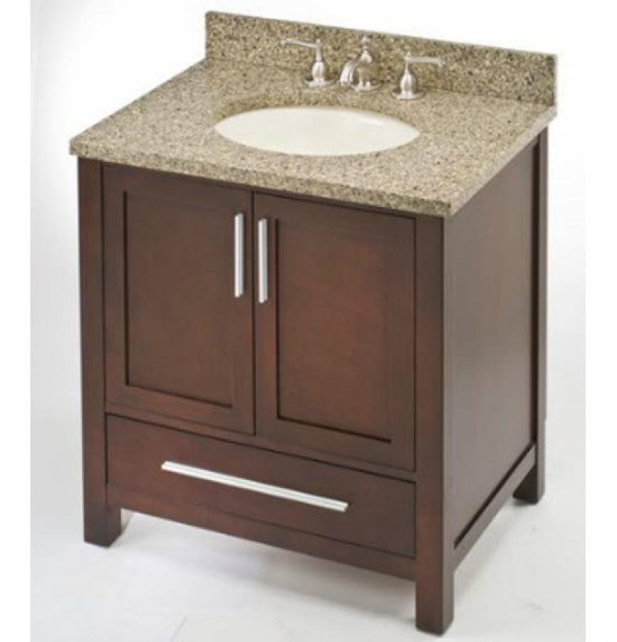 30 inch single sink modern dark cherry bathroom vanity uveimo30. Black Bedroom Furniture Sets. Home Design Ideas