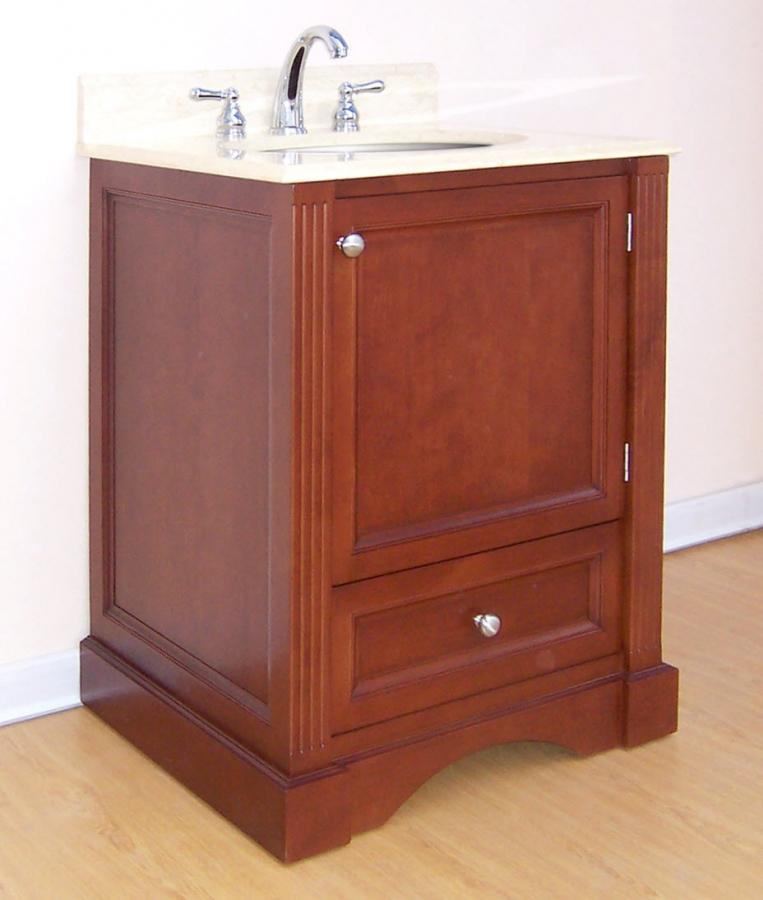 24 inch single sink bathroom vanity with choice of finish - 24 inch farmhouse bathroom vanity ...